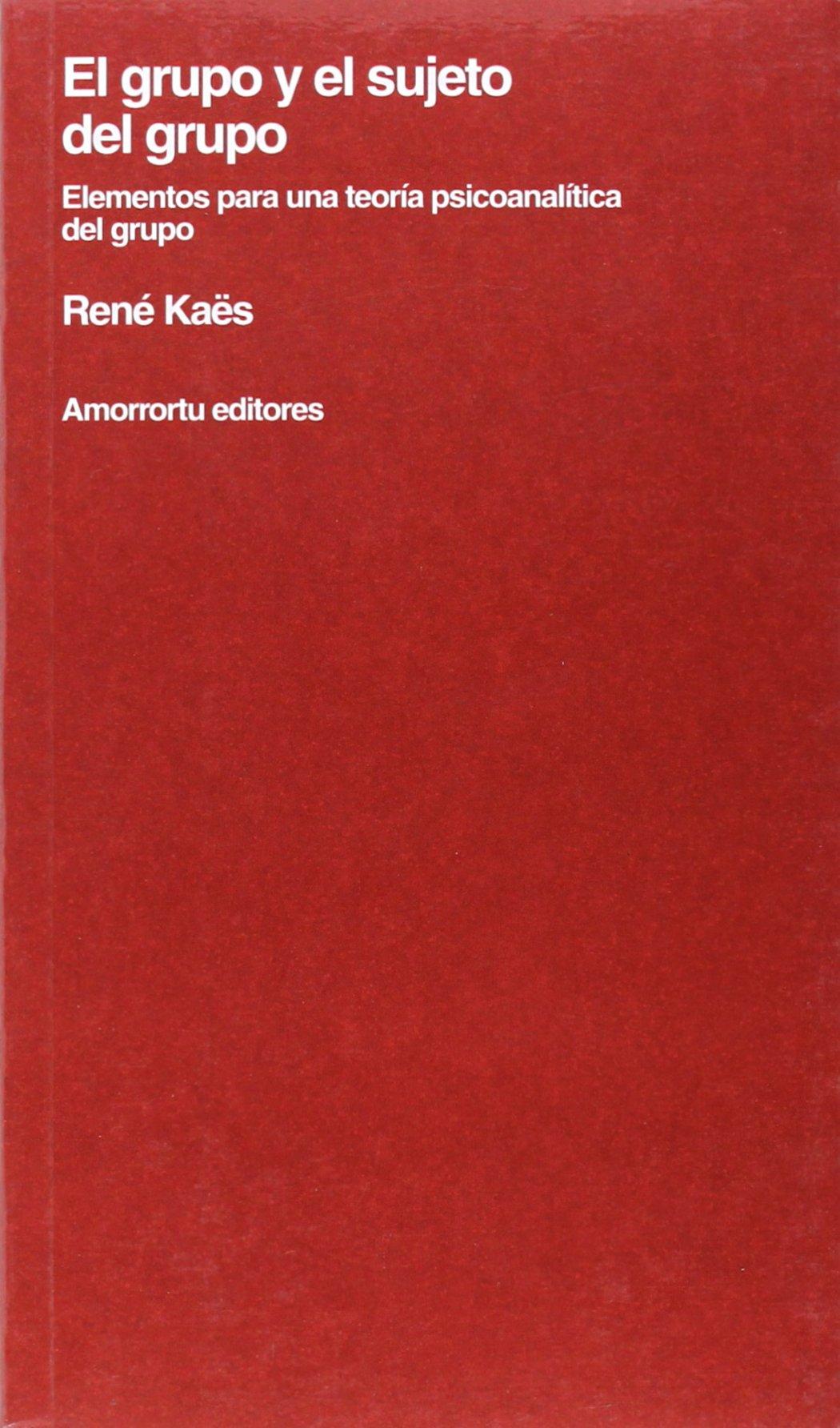 El grupo y el sujeto del grupo: Elementos para una teoría psicoanalítica del grupo Psicología y psicoanálisis: Amazon.es: René Kaës: Libros
