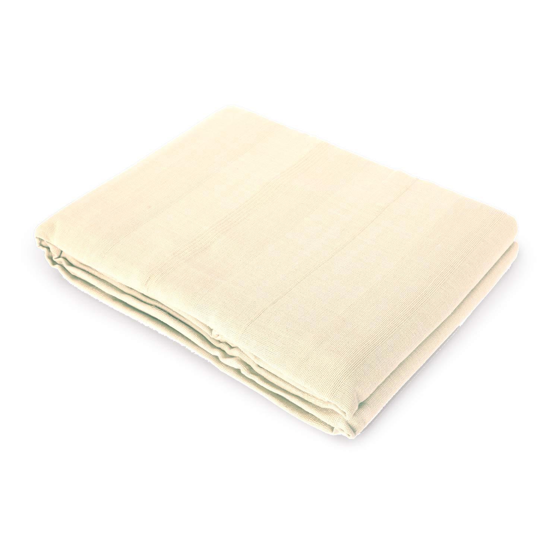 Verdi Couvre-lit plaid multifonctions pour canapé ou lit 100% coton Cuadrante 45x45 ecru Montse Interiors