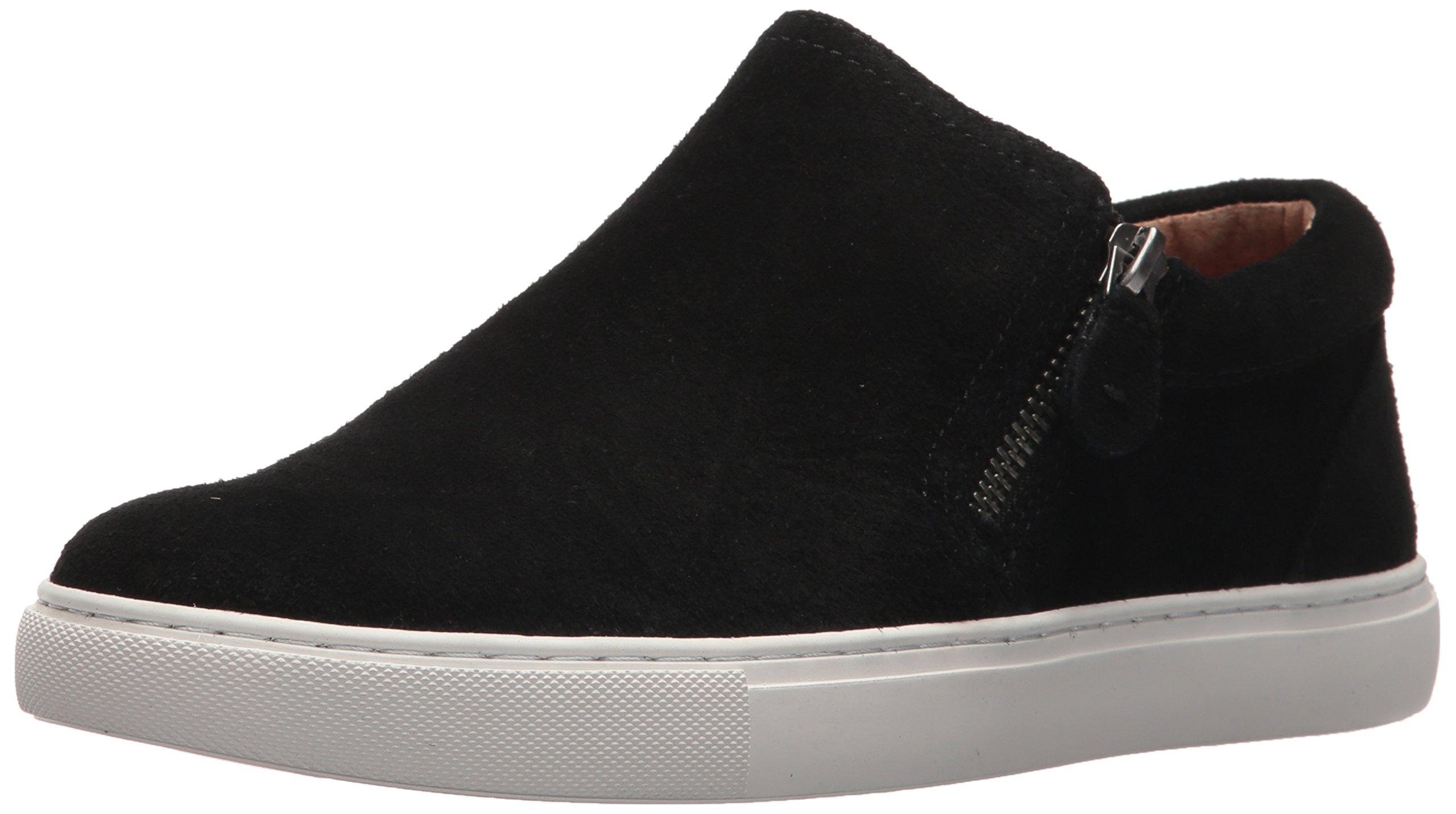 Gentle Souls Women's Double Zip Low Profile Sneaker, Black, 8.5 M US