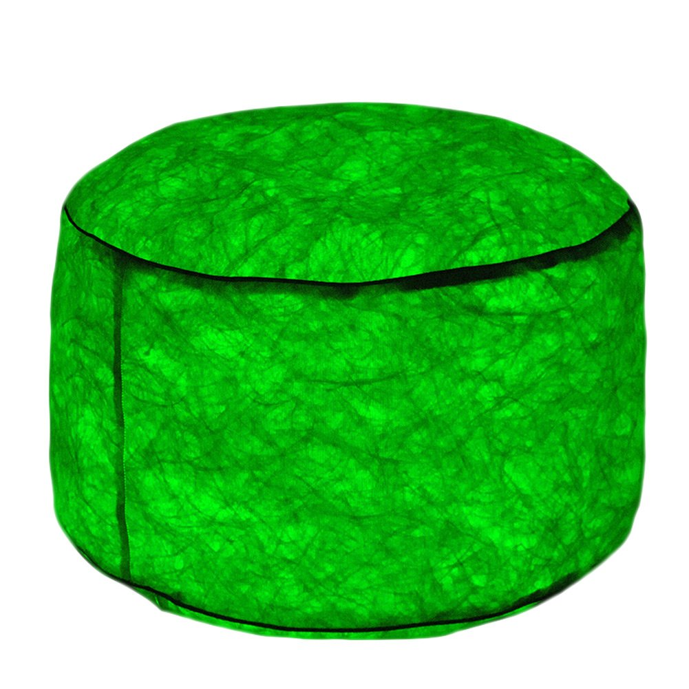Lazybag LED Inflatable Chair for Party Decorations, Cylinder, Green