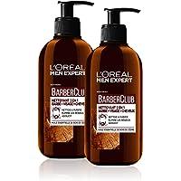 L'Oréal Men Expert BarberClub - Nettoyant 3 en 1 Barbe Visage Cheveux Homme - À L'Huile Essentielle de Bois de Cèdre - 200 ml - Lot de 2