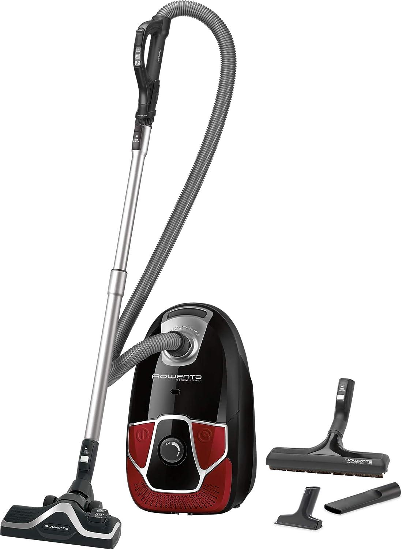 Rowenta X-TREM RO6850 (550 W, Aspiradora cilíndrica, Secar, Bolsa para el Polvo, 4,5 L, Filtro higiénico), Negro, Rojo, Trineo: Amazon.es: Hogar