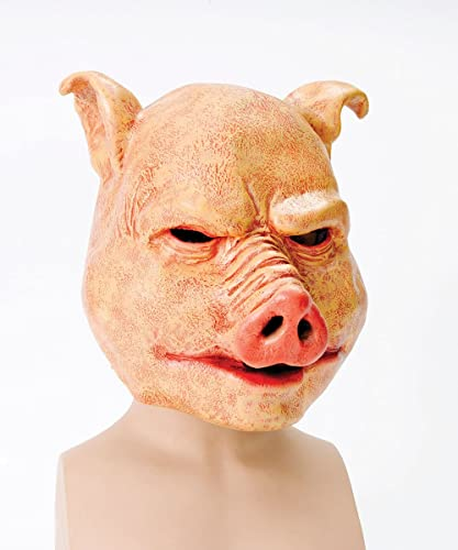 Bristol Novelty Pig Latex Mask, One Size