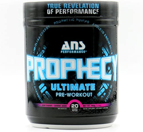 ANS Performance PROPHECY Ultimate Pre Workout Powder Supplement 20'servings,15.5 oz Creatine Free Pre-Workout Energy For Men Women Nitric Oxide Booster Beta Alanine Caffeine Sour Gummy Blast