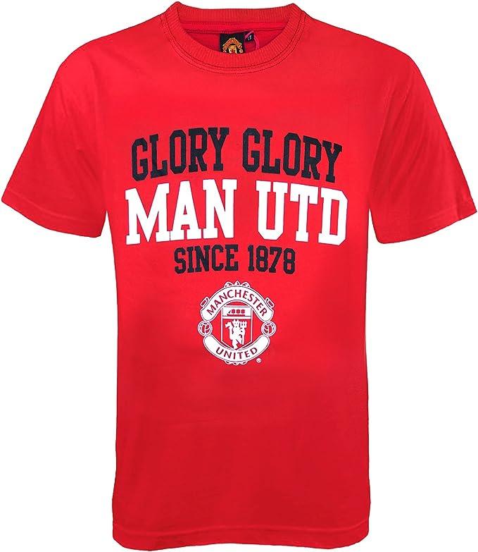 Manchester United FC - Camiseta oficial para niños - Con texto ...