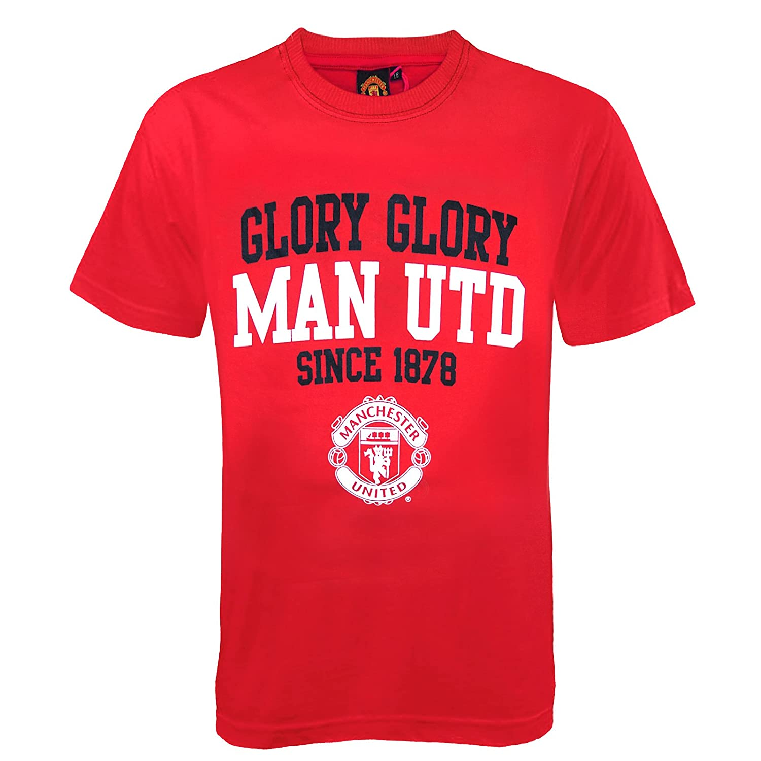 Manchester United Football Club Official SoccerギフトBoysグラフィックTシャツレッド 7-8 Years  B00U17S46O