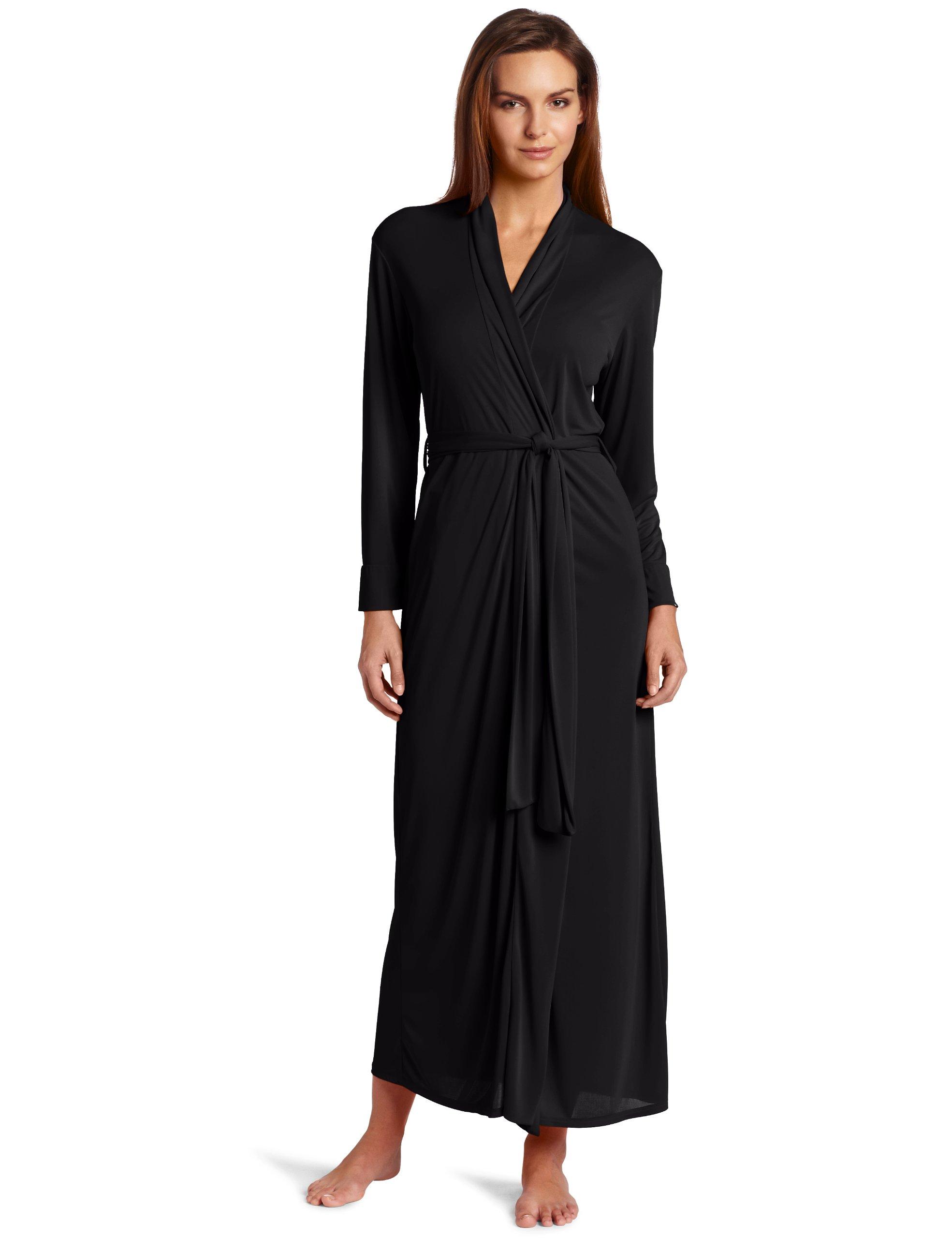 Natori Women's Aphrodite Robe, Black, Large