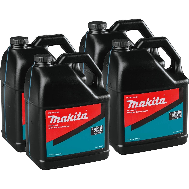Makita T-03159-4 Bar Chain Oil, Winter, 1 Gallon, 4/pk
