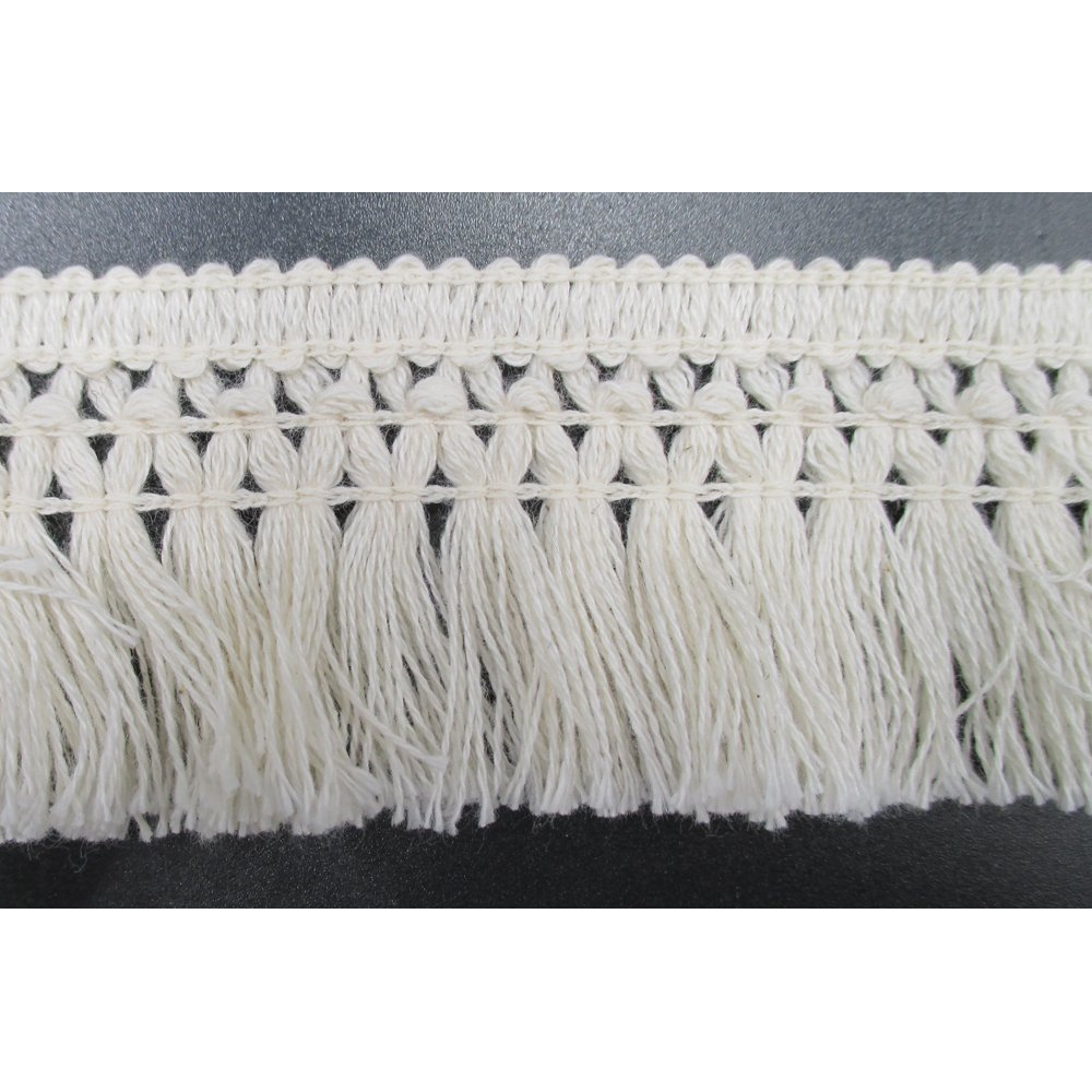1-1/2 Inches Wide Cotton Tassel Fringe In Beige Pack of 10 Yards Trims Craft Supply 4337038899