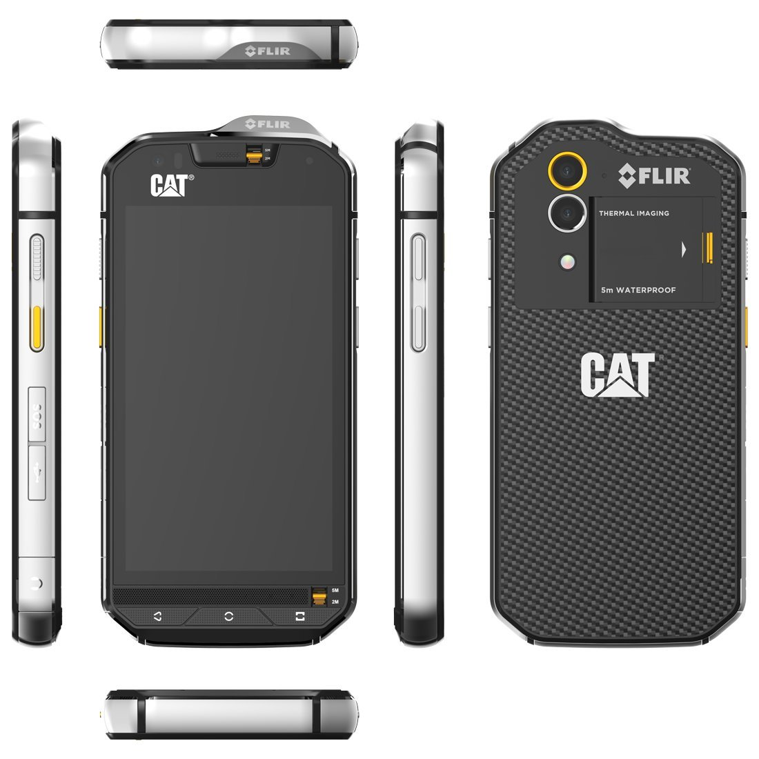 Cat Phones S60 Rugged Waterproof Smartphone With Mobile Phone Circuit Boards Integrated Flir Camera Cell Accessories