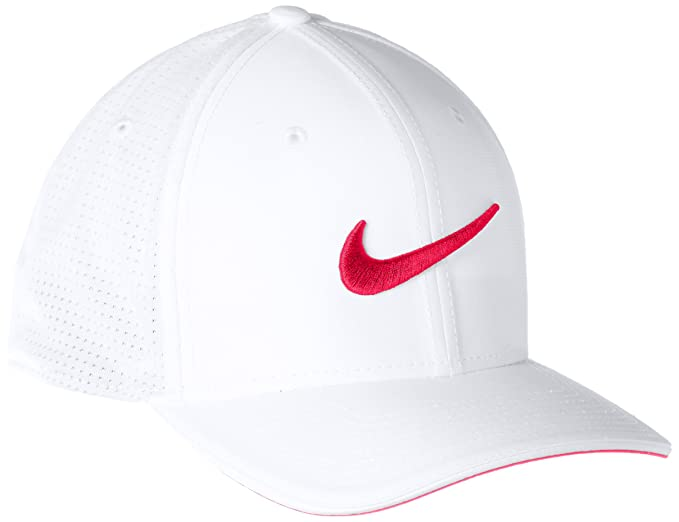 296caf942 NIKE Classic 99 Mesh Golf Cap 2017 White/Siren Red/Anthracite Large/X-Large
