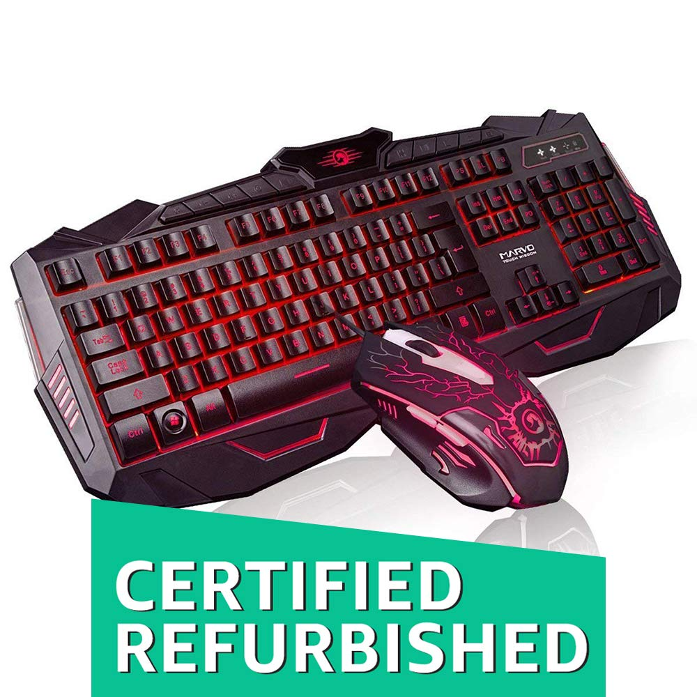 (Renewed) Marvo Scorpion Black Light KM 400 Gaming Keyboard and Mouse Combo (Black)