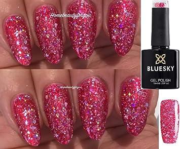 Bluesky BLZ05 Hot Pink Diamond Glitter Sparkle Candy Floss Nail Gel ...