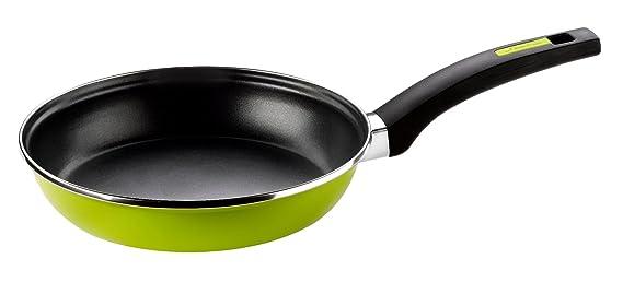Monix Lima - Sartén 24 cm de acero esmaltado verde con antiadherente Teflon® Classic.: Amazon.es: Hogar