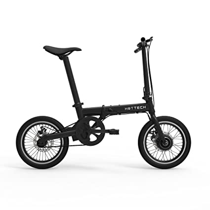 Hottech Electric Folding Bike Car Portable 5 PAS Lion Battery 16 inch Light Weight with Brushless