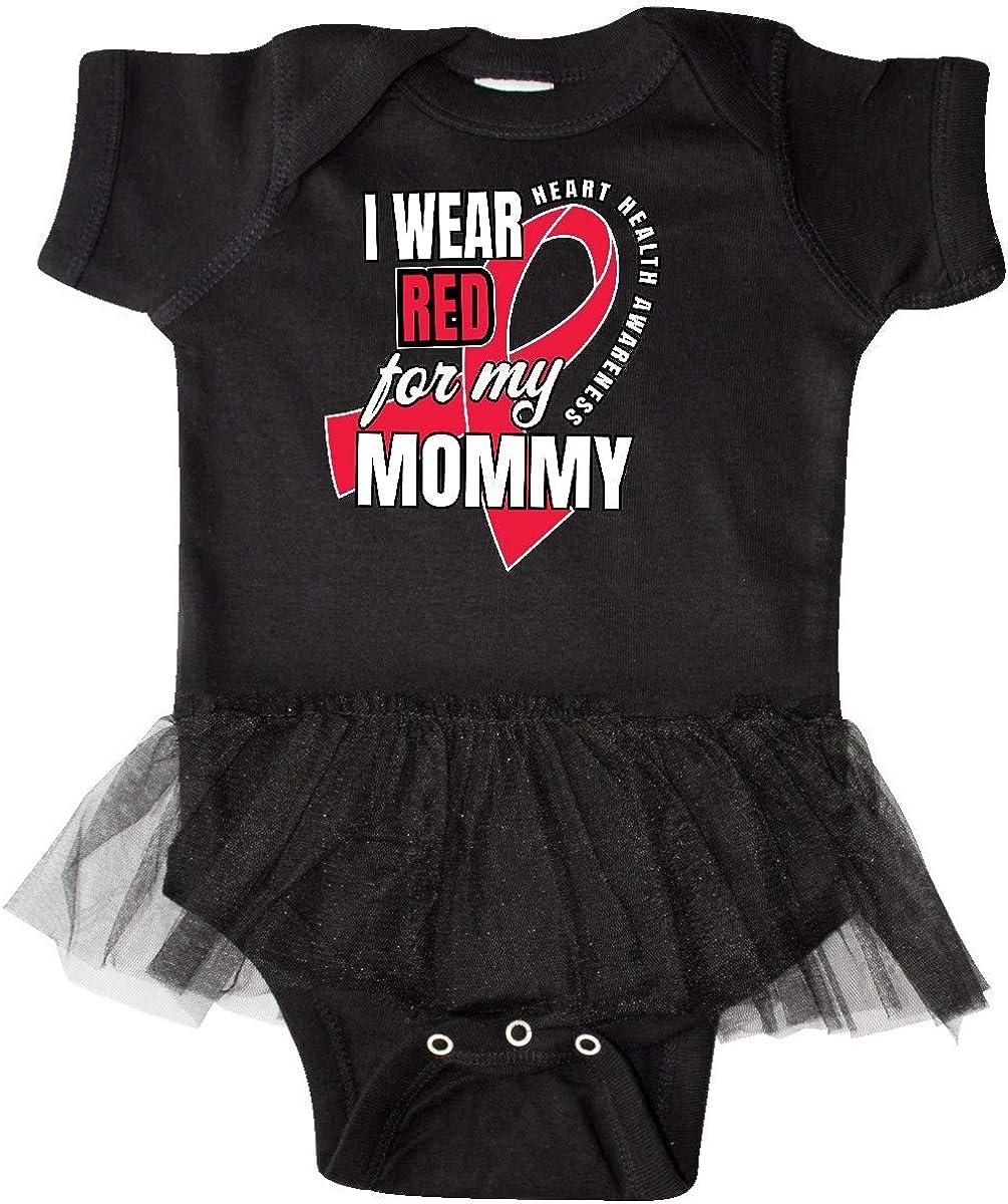 inktastic Heart HeaIth Awareness Wear Red for My Mommy Infant Tutu Bodysuit