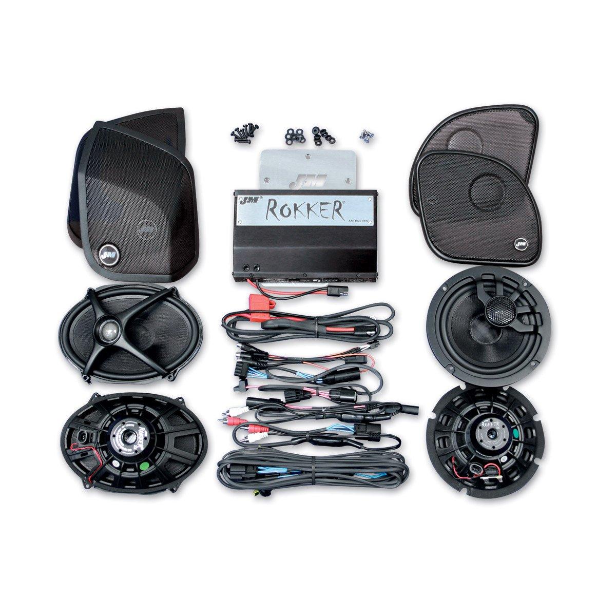 Jm Audio Rokker Extreme Xxrk Four Speaker And 630 Watt Amp Kit For 2014 Harley Saddlebag Wiring Diagram 2015 Newer Davidson Road Glide Models 630sp4 15rc Car