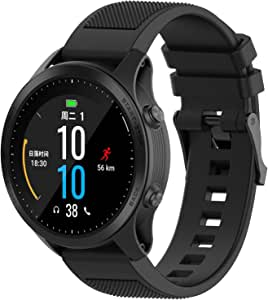 Compatible with Garmin Fenix 6 Pro Watch Bands, Forerunner 945 Bands, 22mm Quickfit Silicone Replacement Band Straps Wristband Bracelet Fit for Garmin Instinct, Fenix 5 Plus (Black)