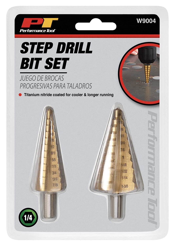 Performance Tool W9003 3-Piece Step Drill Set Wilmar Performance Tool