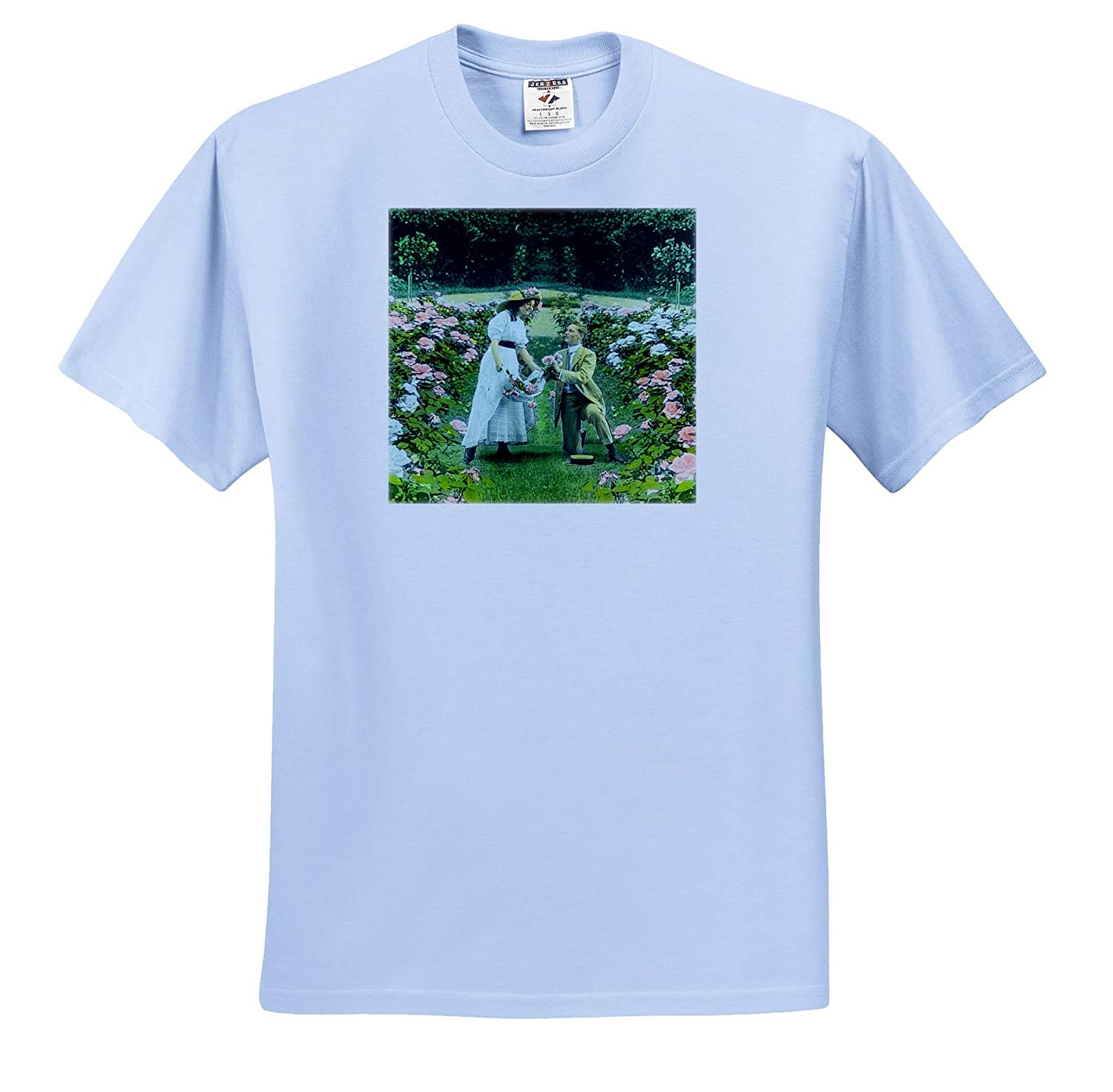 Scott and Van Altena Sing Along Slide Gathering Roses in The Garden Magic Lantern 3dRose Scenes from The Past T-Shirts