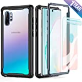 FITFORT Samsung Galaxy Note 10 Plus Case Full Body Rugged Heavy Duty Clear Bumper Case with Screen Protector, Shock Drop…