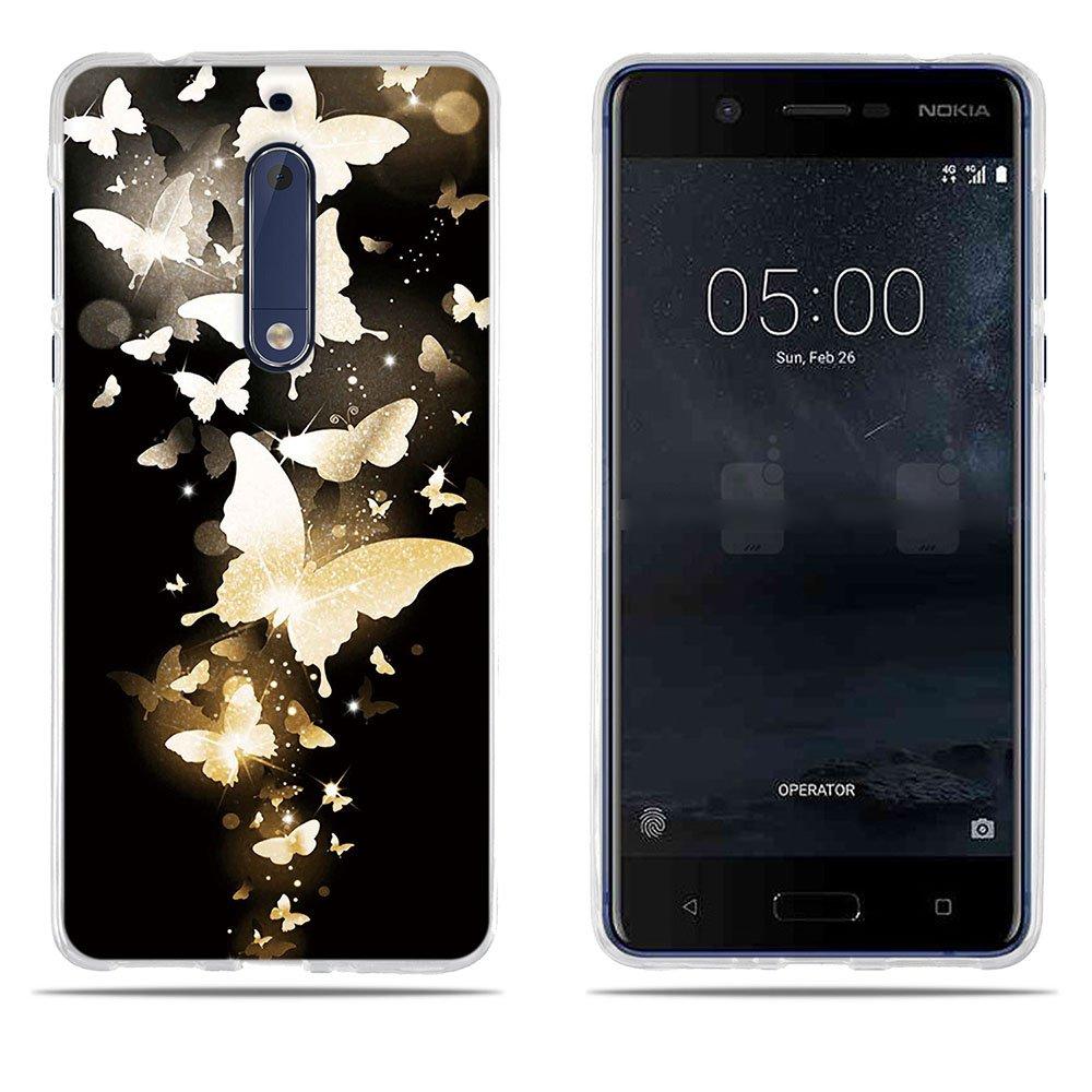 Fubaoda Coque Nokia 5, [Chat Devient Tigre] Ultra Slim TPU Silicone Haute Qualité Téléphone Portable Coque pour Nokia 5 SB-1001