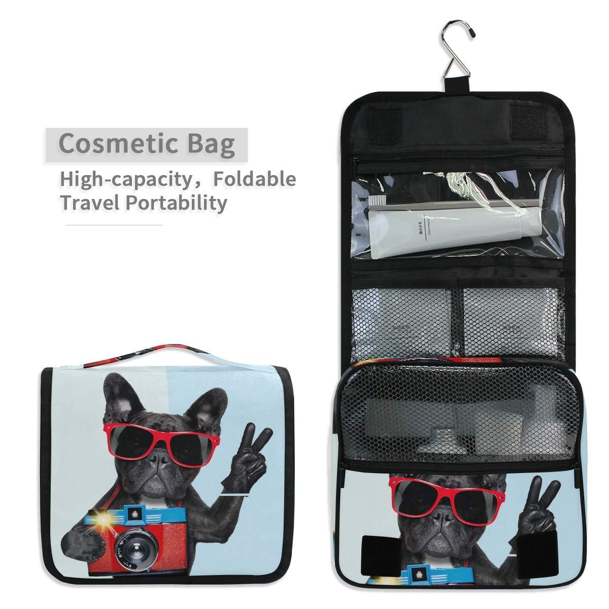 c9abd2f46d11 Amazon.com : Mr.XZY Hanging Makeup Bags Black Dog Camera Portable ...
