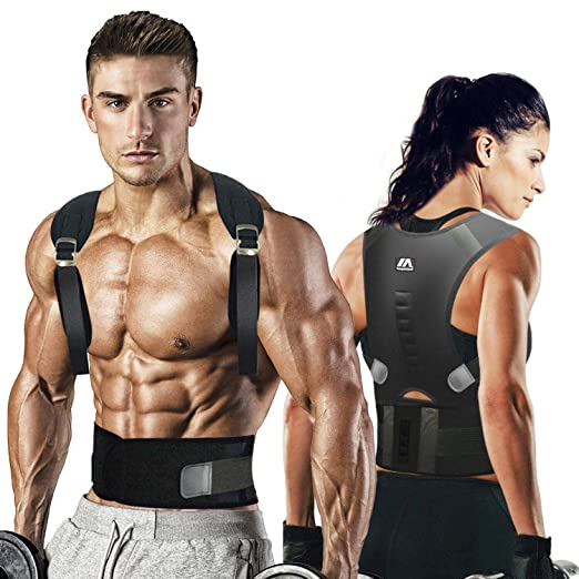 maysuwell Back Brace Posture Corrector |Fully Adjustable Support Brace for Men and Women|Improves Posture and Provides Lumbar Back Brace| Lower and Upper Back Pain Relief (L) best men's posture corrector