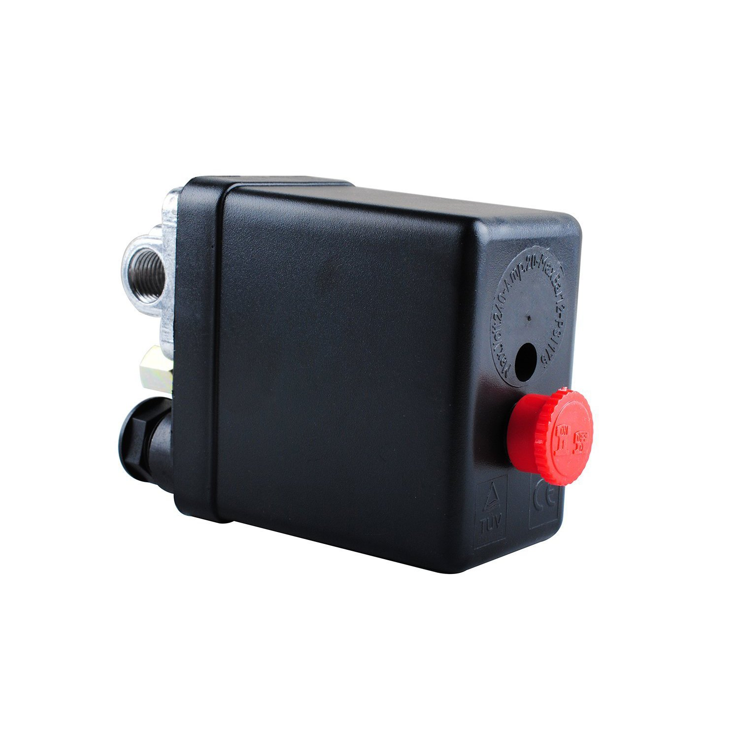 Wadoy Central Pneumatic Air Compressor Pressure Switch Control Valve Replacement Parts 90-120 PSI 240V