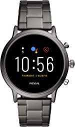 Fossil Gen 5 Carlyle Stainless Steel Touchscreen Smartwatch with Speaker, Heart