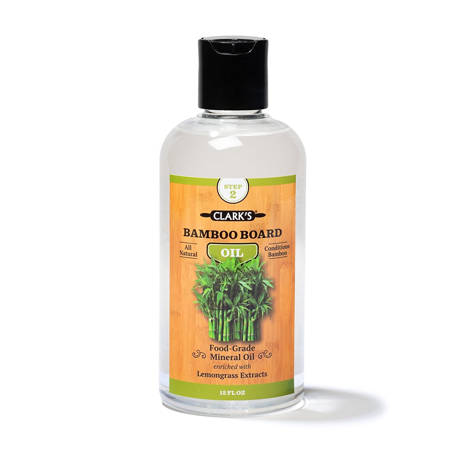 Clark's Bamboo Board Oil (12oz)   Enriched with Lemongrass Extract   Specially Formulated for Bamboo Cutting Boards and All Things Bamboo CLARKS 853324008227