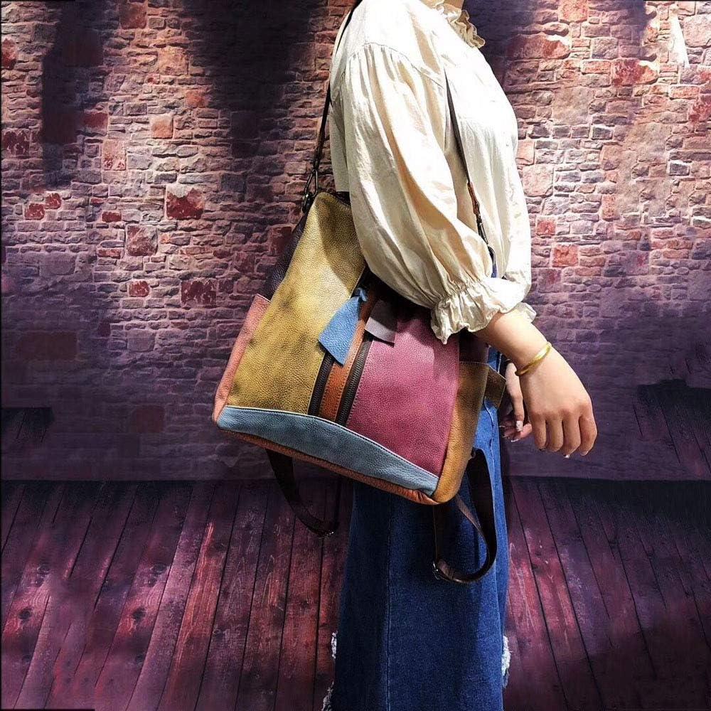 AZSXDC Borsette Per Donna Colorate - Zaino A Tracolla (artigianato Unico) Zaino Tote Bag - Borsa A Tracolla Per Ragazze Carina Con Tasca Interna Multi