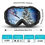 LiSmile Gafas de Esquí Unisex,al Aire Libre,Gafas de Snowboard,Lente de Doble Capa, Protección UV,Antiniebla,Sistema de Ventilación Mejorado,para Esquí,Patinaje,Motociclismo,Equitación para todos