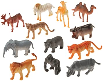 Amazon Com Us Toy Mini Wild Animals Action Figure Toys Games