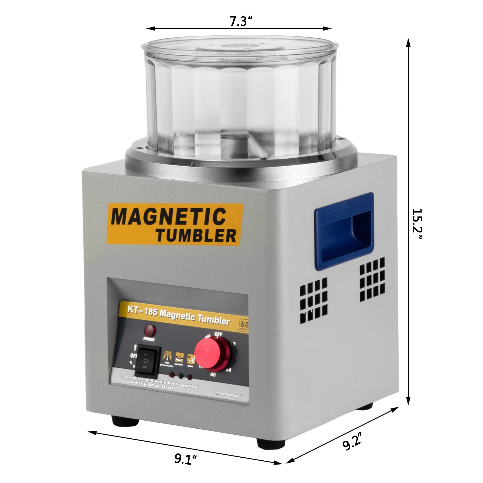 Happybuy Magnetic Tumbler 180mm Jewelry Polisher Tumbler 2000 RPM KT-185 Jewelry Polisher Finisher with Adjustable Speed for Jewelry (185mm) by Happybuy (Image #9)