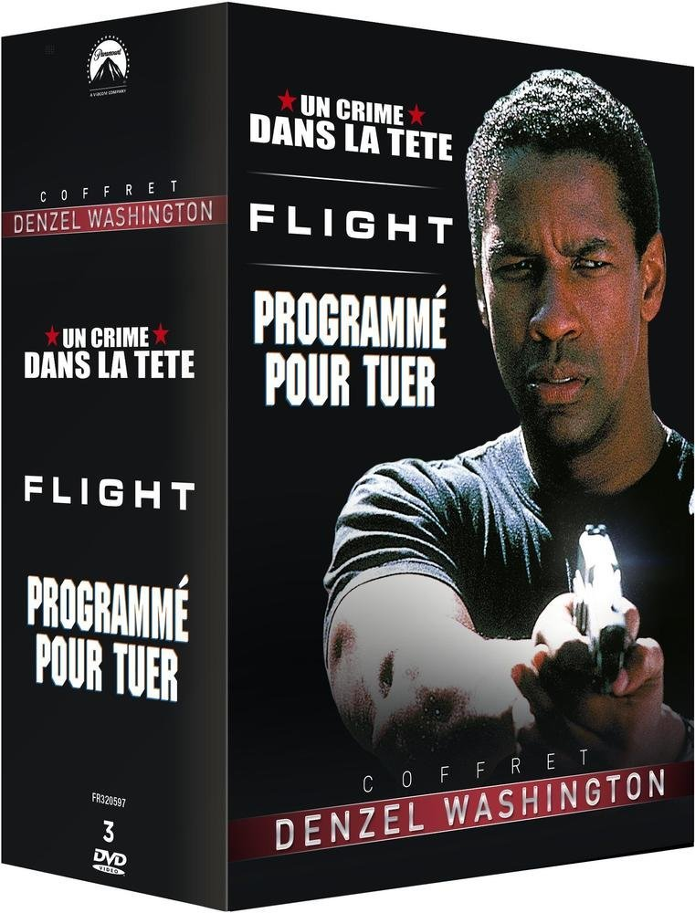 coffret denzel washington flight un crime dans la t te programm pour tuer. Black Bedroom Furniture Sets. Home Design Ideas