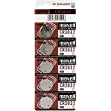 Maxell CR2032 0.5 Ampere Lithium Batteries - 5 Pieces