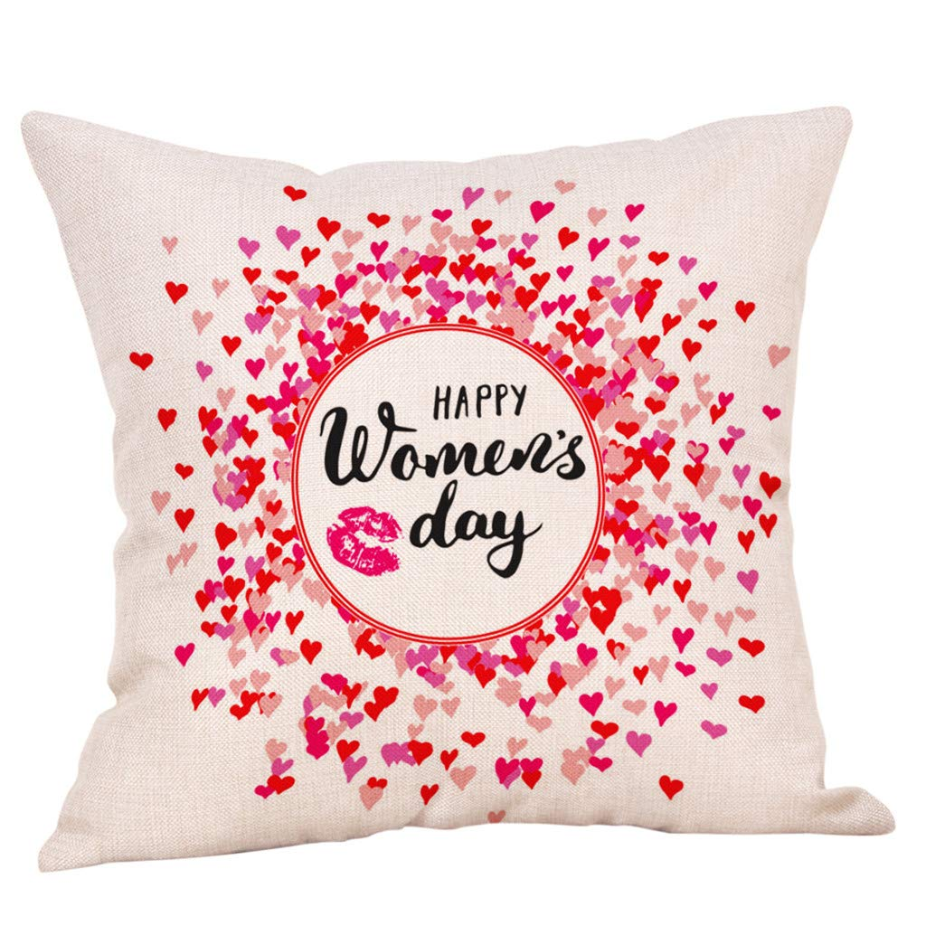 BINMUO Sofa Pillow Covers,Throw Pillow Covers,Cushion Cover Happy Mother's Day Pillow Case Sofa Bed Home Decoration Festival Cushion Cover