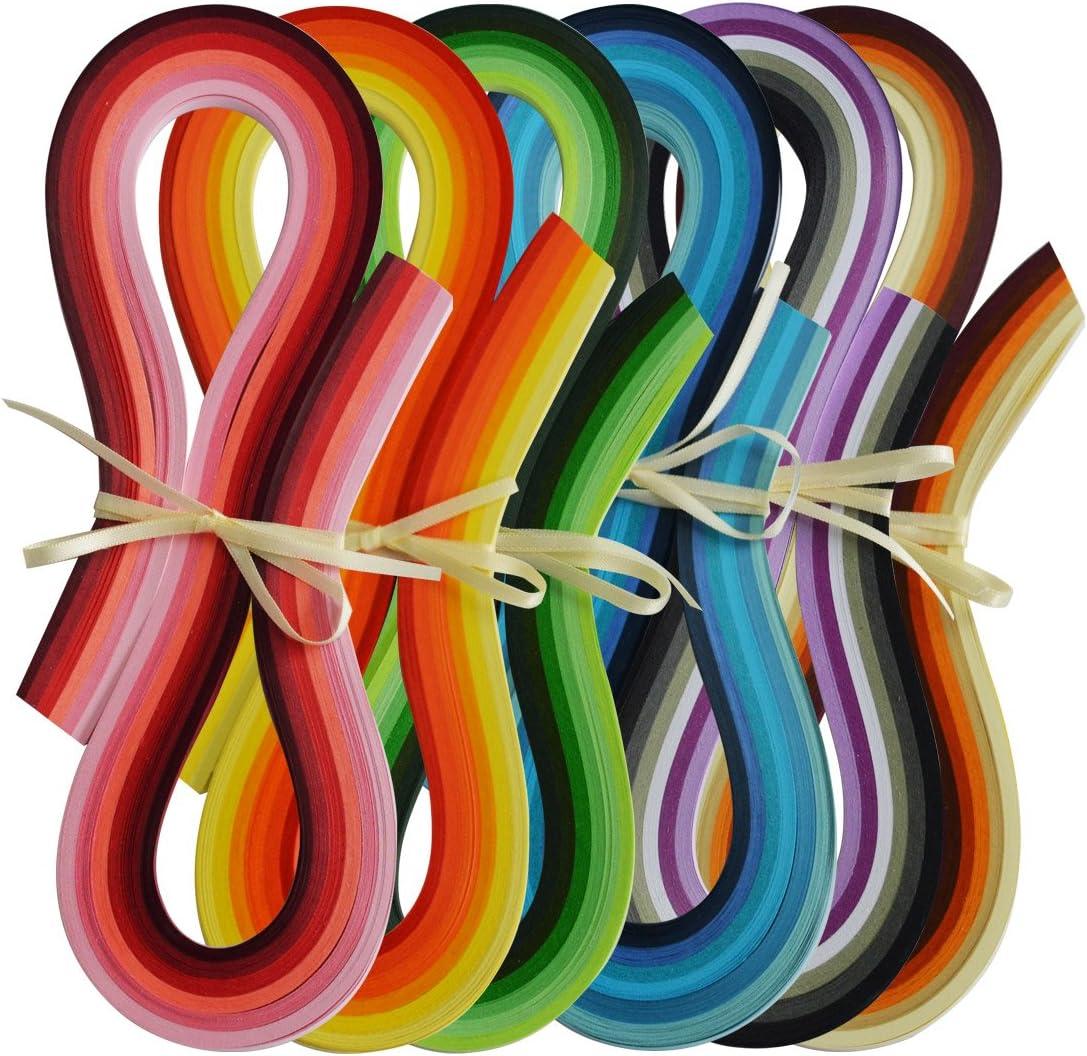 54 cm L/änge 4 Packungen 36 Farben Quilling-Papier-Set 3//5//7//10 mm Breite komplette Quilling-Streifen