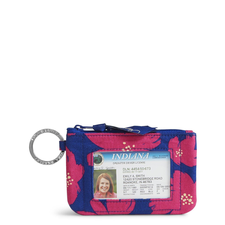 Vera Bradley womens Zip Id Case, Art Poppies, One size