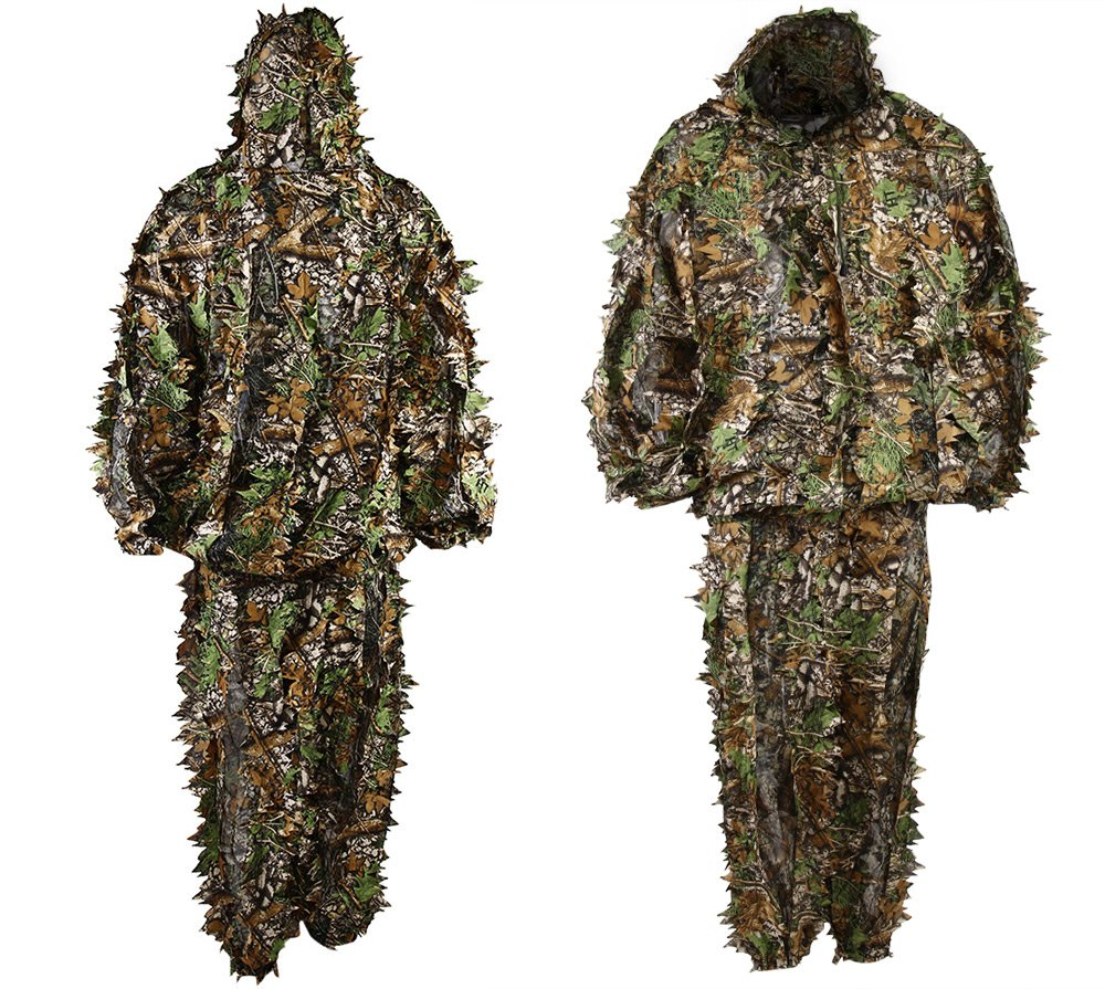 Woodland Ghillie Bionic Suit Kit 3d Leaf Camouflage Camo Jungle Hunting Birding Outdoor Coveralls