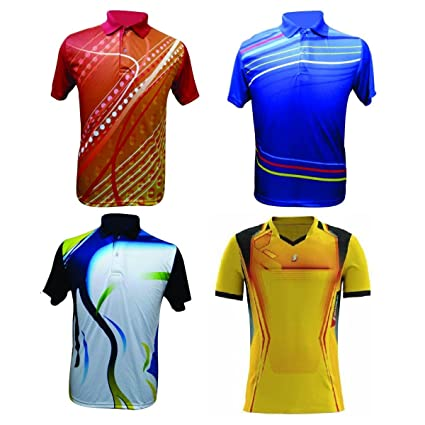 Sublimation Sports T-Shirts (Combo Of 4) _AS0041: Amazon in: Sports