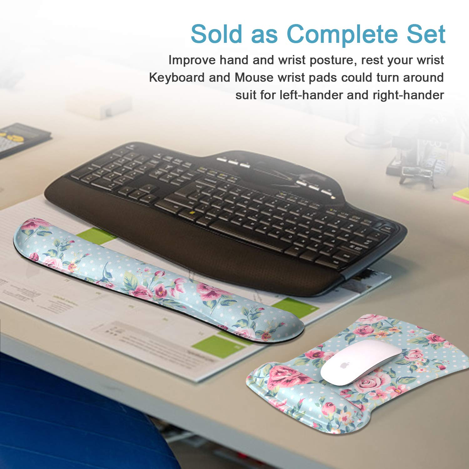 Laptop Easy Typing and Relieve Wrist Pain,Perfect for Gaming Office iCasso Keyboard Wrist Rest and Mouse Wrist Rest Pad Computer Butterfly Girl Ergonomic Support Made of Memory Foam
