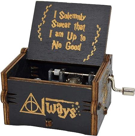Vervetie Caja de música de Harry Potter con Mecanismo DE 18 Notas, diseño Envejecido, Color Negro: Amazon.es: Hogar