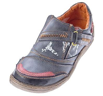 Comfort Damen Leder Schuhe TMA Turnschuhe Weiß Slipper Sneakers Halbschuhe Ziernähte Gr. 41 WrjK3L9
