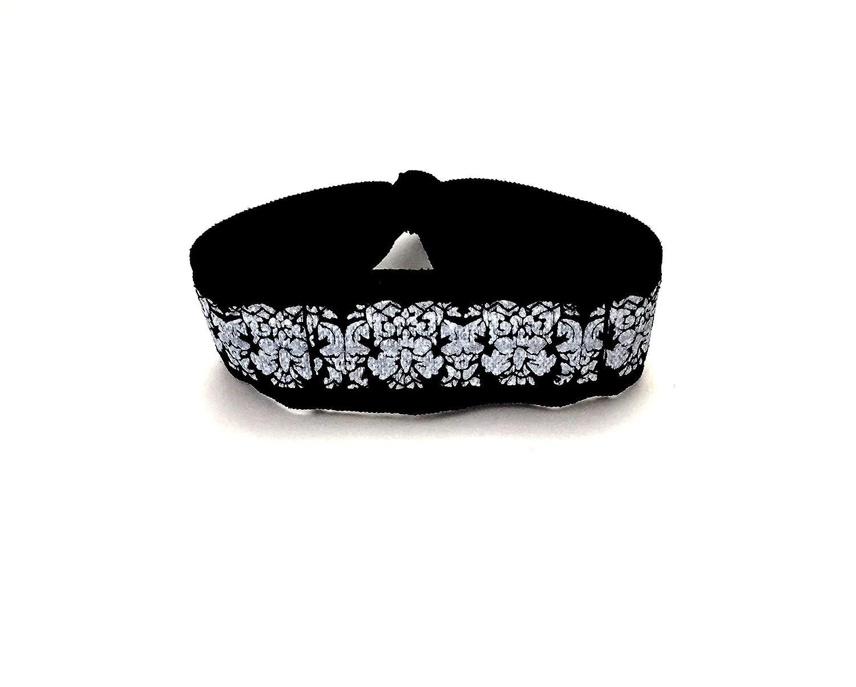 Black Floral Wrist or Ankle Band for Fitbit Inspire Flex Flex 2 One Alta 71XWKVAvbhL