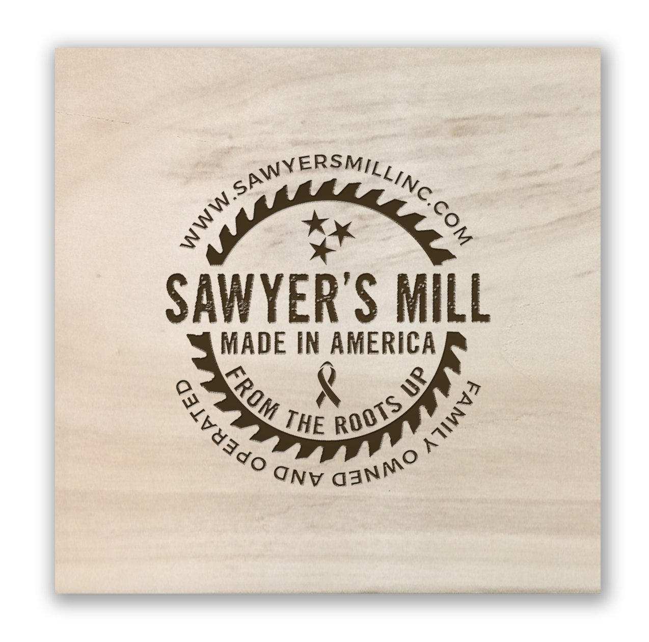 Bang Head Here Wooden Square Block with Funny Quote from Pinterest 4-inch by 4-inch