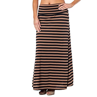Alki'i High Waisted Floor Length Striped Maxi Skirt at Women's Clothing store