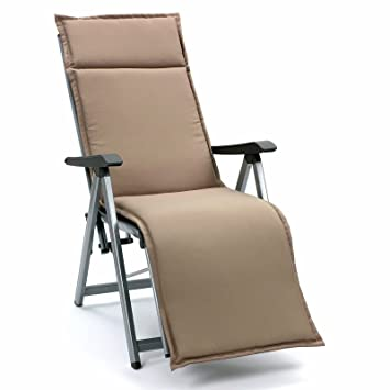 Coussins pour fauteuil relax chaise longue Cuba 50234-610 dans taupe ...