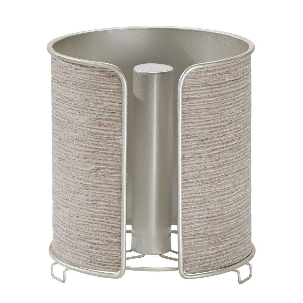 InterDesign RealWood Paper Towel Holder for Kitchen Countertops - Bronze/Rosewood Finish 90258